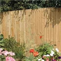 6 x 5 Vertical Board Fence Panel Pressure Treated - Minimum Order of 3 Panels