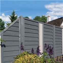 6 x 3 Painted Grey Screen Panel with Solid Infill - Minimum Order of 3 Panels
