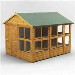 10 x 8 Premium Tongue and Groove Apex Potting Shed - Double Door - 18 Windows - 12mm Tongue and Groove Floor and Roof