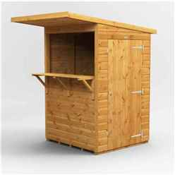 4 X 4 Premium Tongue And Groove Market Kiosk Bar - Single Door - 12mm Tongue And Groove Floor And Roof