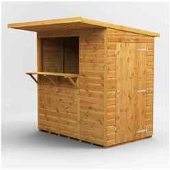 6 X 4 Premium Tongue And Groove Market Kiosk Bar - Single Door - 12mm Tongue And Groove Floor And Roof
