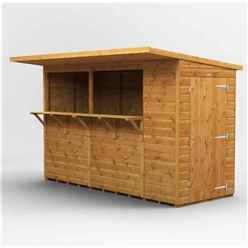 10 X 4 Premium Tongue And Groove Market Kiosk Bar - Single Door - 12mm Tongue And Groove Floor And Roof