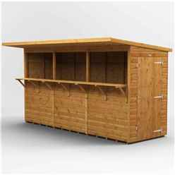 12 X 4 Premium Tongue And Groove Market Kiosk Bar - Single Door - 12mm Tongue And Groove Floor And Roof