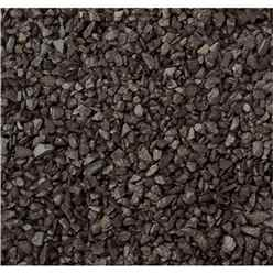 Bulk Bag 850kg Black Chippings Gravel (*Please Note When Dry The Colour Is Dark Charcoal When Wet Naturally Darkens - See Other Images Dry And Wet)