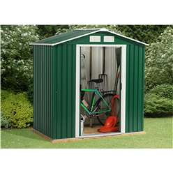 **PRE-ORDER:DUE BACK IN STOCK: END OF OCTOBER** 6 x 8 Budget Metal Shed (2.01m x 2.42m)