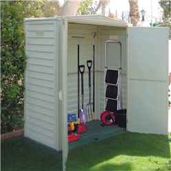 5 X 3 Deluxe Duramax Plastic Pvc Shed With Steel Frame (1.73m X 0.97m) With Floor