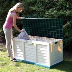 4ft 7 x 2ft 0 Deluxe Plastic Garden Store Bench (1.4m x 0.61m)