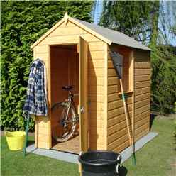 6 x 4 (1.82m x 1.2m) - Tongue And Groove - Apex Garden Shed / Workshop - 1 Window - Single Door - 11mm Solid OSB Floor