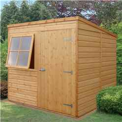 7 x 7 (2.05m x 1.98m) - Tongue & Groove -  Pent Garden Shed / Workshop - 1 Opening Window - Single Door - 10mm OSB Floor