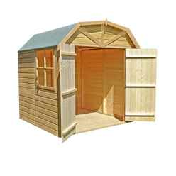7 x 7 (2.05m x 1.98m) - Tongue & Groove Apex Garden Shed / Barn  1 Window - Double Doors - 12mm Tongue and Groove Floor (CORE)