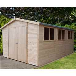 15 x 10 Tongue And Groove Garden Workshop (12mm Tongue And Groove Floor) (CORE)