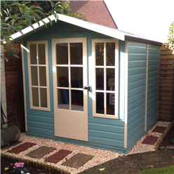 7 x 7 (2.05m x 1.98m) - Wooden Summerhouse - 12mm Tongue And Groove Floor And Roof