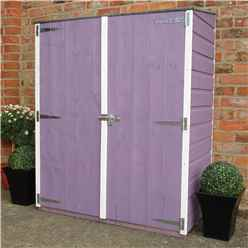 2 x 4 (0.64m x 1.22m) - Tongue And Groove - Pent Garden Store - Double Doors - 11mm Solid OSB Floor