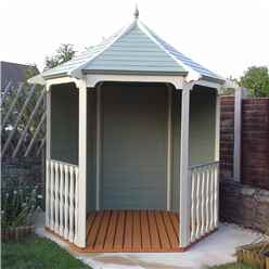 6 x 7 Tongue and Groove Wooden Summerhouse Arbour (12mm Tongue and Groove Floor and Roof) (Pressure Treated)