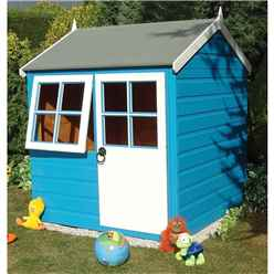 4 x 4 (1.19m x 1.19m)  - Wooden Playhouse - 1 Opening Window - Single Door