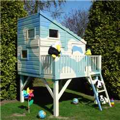 6 x 6 Wooden Command Post Tower Playhouse