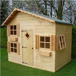 8 x 6 (2.40m x 1.76m) - Wooden Playhouse
