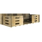 Verandah For 4m x 4m Log Cabin (4m x 1.5m) - 44mm