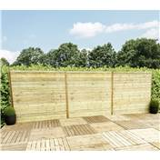 6FT (1.83m) Horizontal Pressure Treated 12mm Tongue & Groove Fence Panel - 1 Panel Only (Min Order 3 Panels) + Free Delivery*
