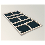 10 x 10 Metal Foundation Kit (vinyl)