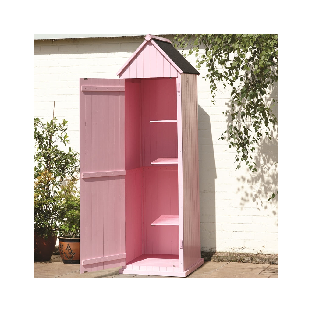 Pink Brighton Beach Style Apex Sentry Shed 2ft X 2ft
