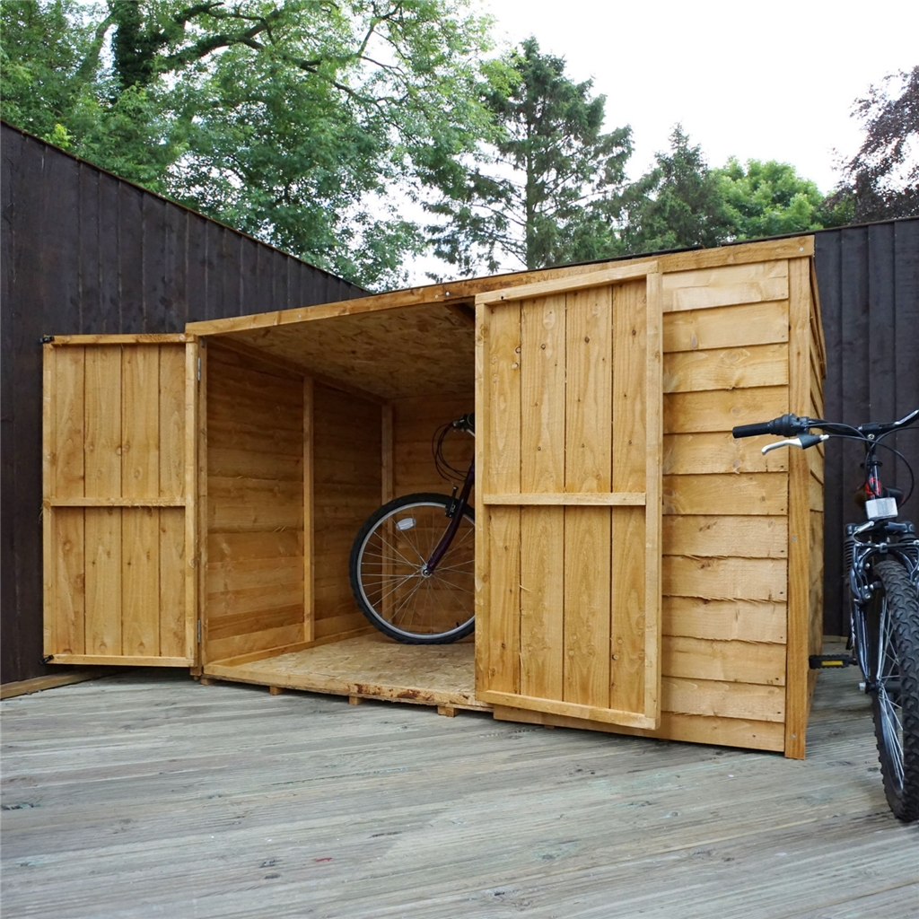 4 x 6 overlap pent bike store 4 39 1 x 6 39 5 for Motorcycle storage shed