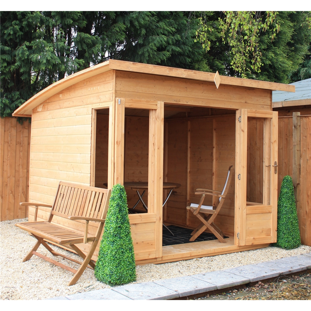 10 X 8 Premier Pent Wooden Summerhouse