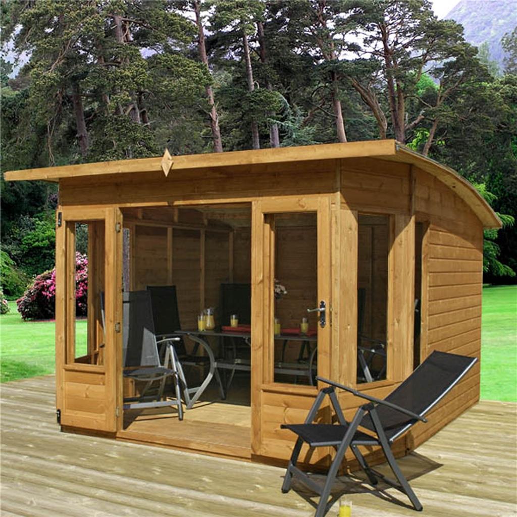 Relaxed Garden Summer House: 10 X 10 Premier Pent Wooden Summerhouse
