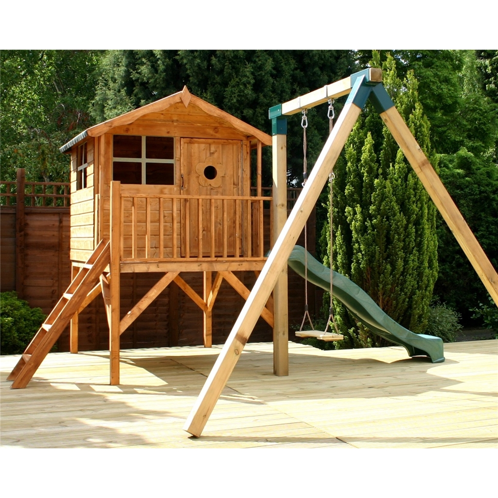 Tower Playhouse Slide And Swing 5ft X 7ft