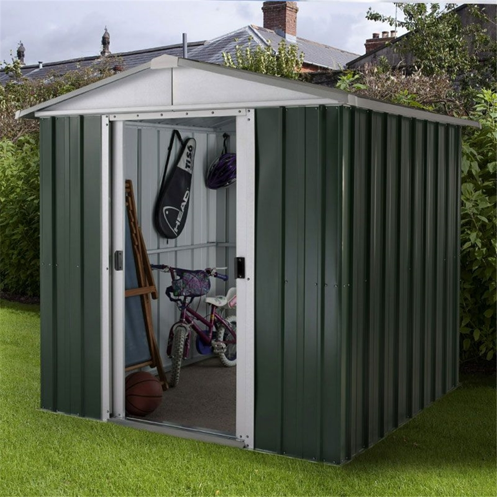 Ym metal sheds 6ft 1 x 6ft 1 apex metal shed with free anchor kit 1 86m x 1 86mx