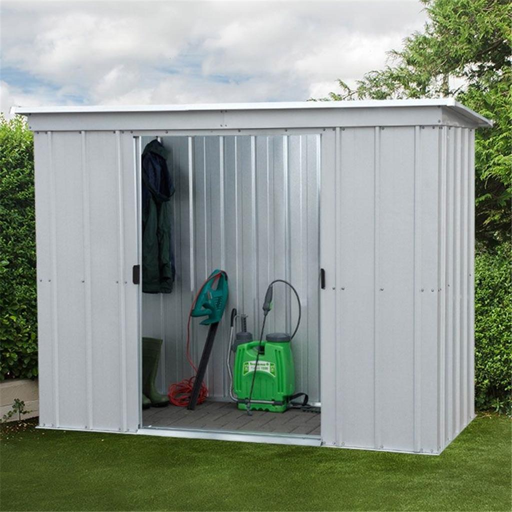 7 39 5 x 3 39 5 pent metal shed free anchor kit x