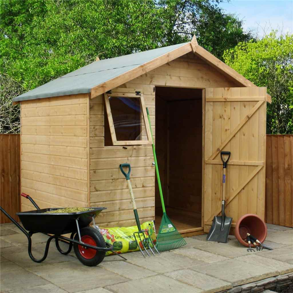 6 X 8 Premier Reverse Wooden Shed